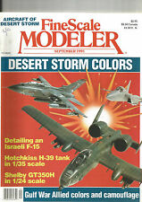 FINESCALE MODELER SEPTEMBER 1991 DESERT STORM COLORS / ISRAELI F-15 / HOTCHKISS