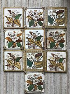 10 Mixed Victorian Ceramic Flowers Tiles 6 in x 6 in