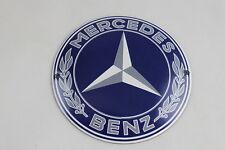 Mercedes Benz - Ø 12 cm - Logo - Emailschild - Türschild - Emaille Schild - blau