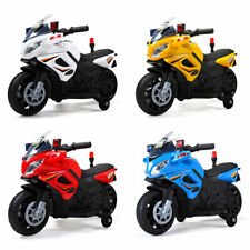 6V Kids Ride On Police Motorcycle Car Battery Powered w/4 Wheel Electric Toy