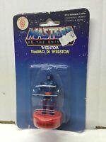 """Mattel Masters of Universe He-Man Stamper STAMP Serie 1 WEBSTOR 2.5"""" MOC, 1985"""