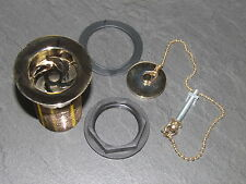 Gold Plated Brass Basin Waste With gold plated Brass Plug