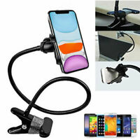 360°Flexible Metal Arm Lazy Stand Clamp Mount Phone Holder Stand