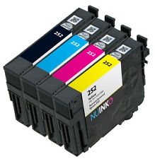 4pk Remanufactured Epson 252 Ink Cartridge for Workforce Wf-7610 Wf-7620