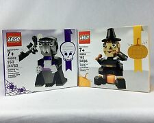 Lego Lot 40203 & 40204 Halloween Vampire & Turkey Pilgrim Thanksgiving Sets NEW