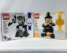 Lego Lot 40203 & 40204 Halloween Vampire & Turkey Pilgrim Thanksgiving Sets NEW