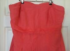 CITY CHIC Strapless Maxi Dress Embriodery Coral Pink Plus Size XL 20 22