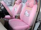 18pcset Plush Universal Car Seat Covers Girls Hello Kitty Cushion Accessory