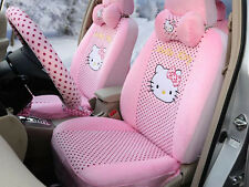 18pc/set plush universal car seat cover hello kitty car accessory seat covers