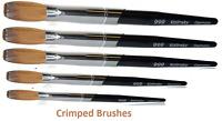 999 Titanium Handle - Kolinsky Acrylic Nail Brush For Manicure Powder (CRIMPED)