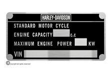 HARLEY DAVIDSON  FX FL XL  plate quality vin-tage new