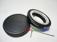 Leica L39 M39 Lens to Canon EOS M EF-M Mirrorless adapter adjustable +tool + cap