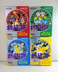 Nintendo Gameboy Pokemon Green Red Pikachu Blue set Japan 4-piece set Retro game