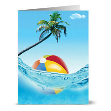 24 Summer Note Cards - Cool Summer Fun - Yellow Envs