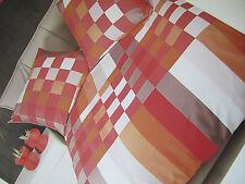 Janine Mako ropa de cama satinada 135x200bettgarnitur multicolor Aprico Rojo