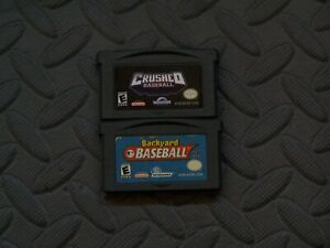 Lot Nintendo GameBoy Advance GBA Game Cartridge Only Crushed Baseball + Backyard