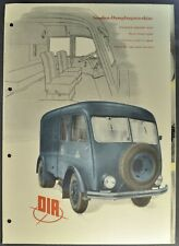 1953 Dia Street Steam Engine Truck Brochure VEB Van Original 5-Langage Text