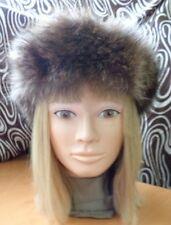 "MINT NATURAL RACCOON RACOON FUR HEADBAND HEAD WRAP WOMEN WOMAN SIZE 21 1/4 X 2"""
