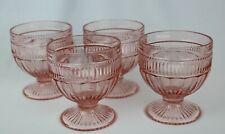 Anchor Hocking ANNAPOLIS ROSEWATER Sundae/dessert/sherbert glasses set of 4-8oz
