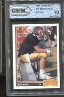 1991 Brett Favre Upper Deck RC Rookie Gem Mint 10 Green Bay Packers