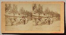 Les Sables d'Olonne France Stereo Vintage albumine ca 1870