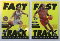 Fast Track RARE INSERT LOT of 2 Damon Stoudamire Chris Webber 1997-98 Premium NM