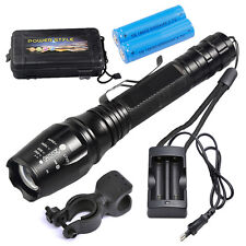 12000LM XML T6 LED Flashlight Tactical Police 5 Modes Zoomable Reachargeable Set