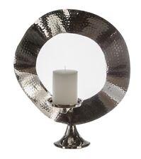 Casablanca Kerzenständer Alu gehämmert Kerzenleuchter Stumpenkerzen 35cm 53412