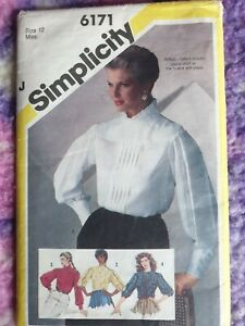 Vintage Simplicity Sewing Pattern #6171 Sz12 Blouses