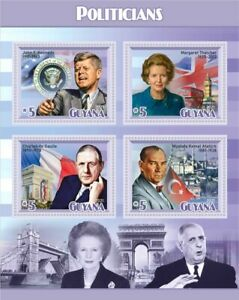 Stamps  Famous People De Gaule,Stalin,Kennedy,Thatcher,Mustafa Kemal
