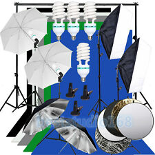Photography Softbox Continuous lighting Kit Studio 5 Background Stand Reflector