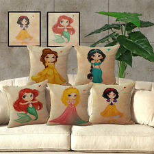 Beauty and the Beast Disney Princess Cushion Cover Pillow Case Home Decor Gifts