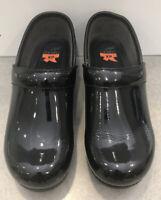 DANSKO XP Black Patent Leather Clog Professional Nurse Shiny Anti slip Size 38