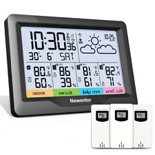Newentor Wireless Indoor Outdoor Digital Atomic Clock Weather Thermometer