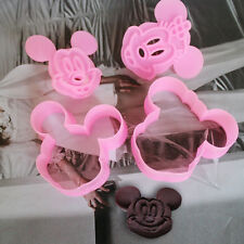 Newest 2pcs Mickey Shape Cake Molud Cookie Decor Sugarcraft Mold Plunger Cutter