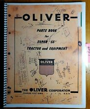"""Oliver Super 55 """"55"""" Tractor and Equipment Parts Book Manual S1-9-E2 1955"""