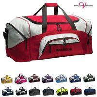 Personalize Monogram Duffle Gym Bag Large Sports Duffel Bag Overnight Travel