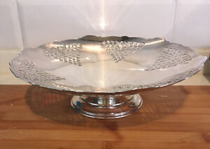 Mappin & Webb Silver  Plated Footed Fruit Stand 1200 D Mark Bexhill On Sea 1937