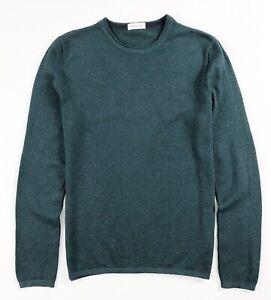 Calvin Klein Crew Neck Jumper Men's Mottled Green Textured Pullover Sweater