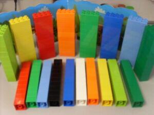 Duplo Selection Of 4 & 8 Lug Bricks Qty 10