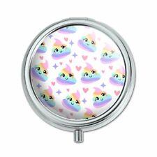 Cute Rainbow Poop Pattern Pill Case Trinket Gift Box