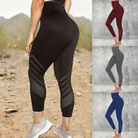 Women PUSH UP Yoga Leggings Fitness Sports Pants High Waist Gym Running Seamless