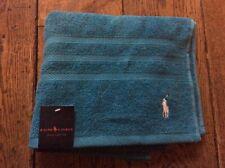 BNWT New Ralph Lauren Polo Player Turquoise Hand Towel 100% Cotton 50x90cm Golf