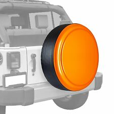 Boomerang-Painted Rigid Tire Cover - Jeep Wrangler - Orange Crush