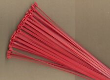"100 8"" Inch Long 40# Pound RED Nylon Cable Zip Ties Ty Wraps MADE IN THE USA"