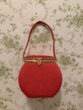 Red Vintage Grossgrain Top Handle Mini Bag