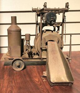 1926 Vintage Original BUDDY L Functional Steel CONCRETE CEMENT MIXER Huge & RARE