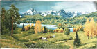 Tapestry Fabric Panels Textile Picture Horses Mountain Lake Naturlandschaften