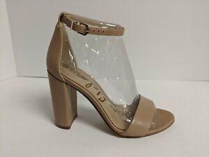 Sam Edelman Yaro Ankle Strap Heeled Sandal, Nude, Women's 6.5 Wide