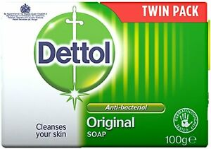 Dettol Antibacterial Bar Soap Original, Pack of 2 x 100 g Free Delivery